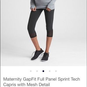 Maternity GapFit Full Panel Sprint Capris W/pocket